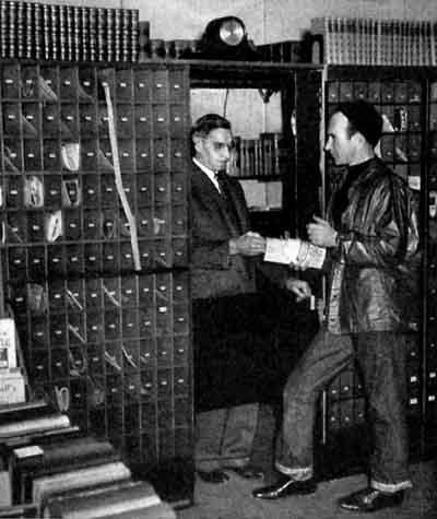 Globe-trotter Johnny Stilwell gets his mail from Mr. Chlarson